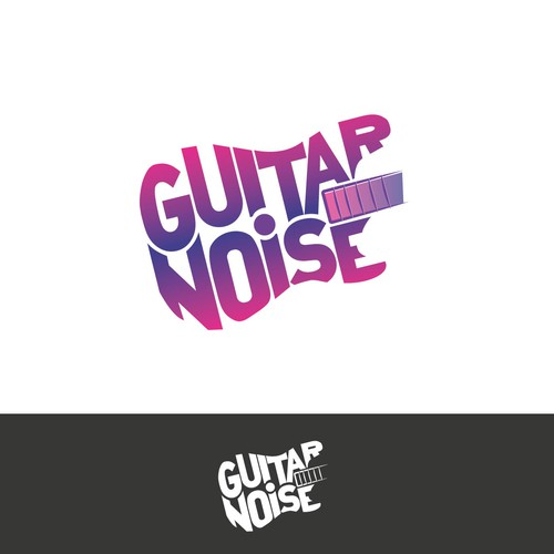 A psychedelic logo for popular guitar lesson site