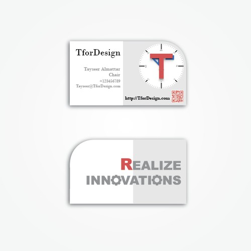 Abnormal Business Card for TforDesign.com !? Please come in!
