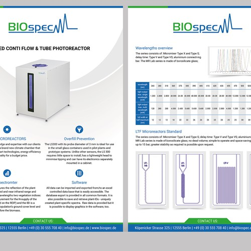 Product flyer for Biospec