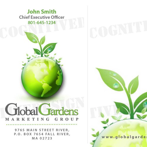 business card design for marketing company