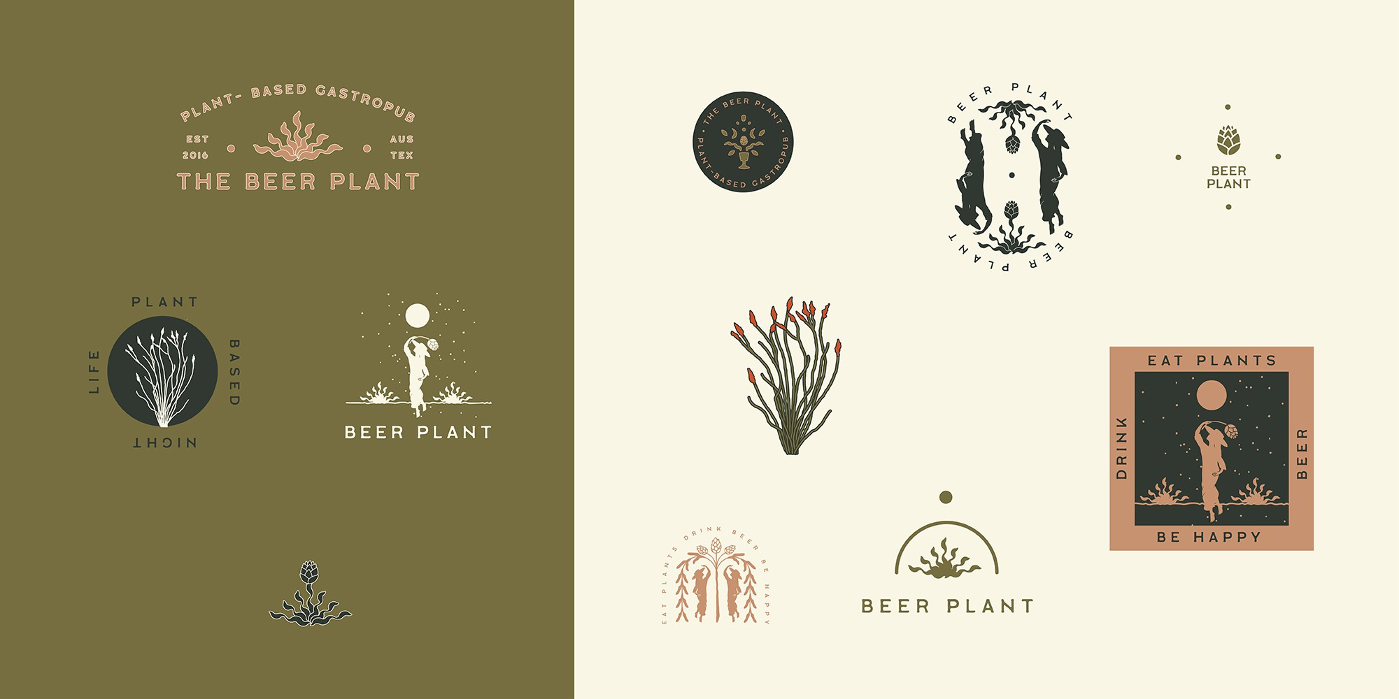 Beer Plant Icons / Color Palette