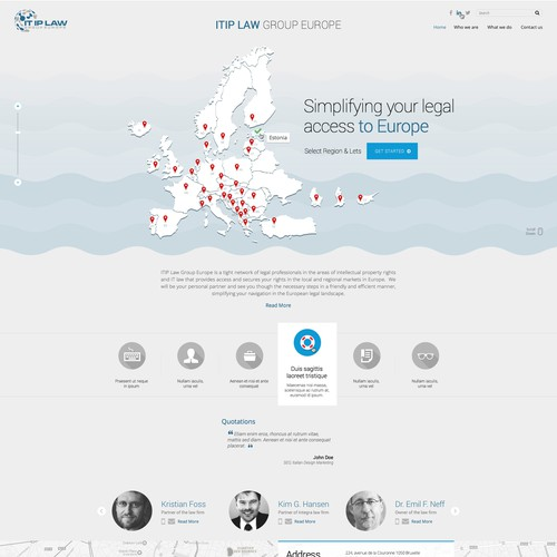 Design a cool, but trustworthy and functional lawyer's website