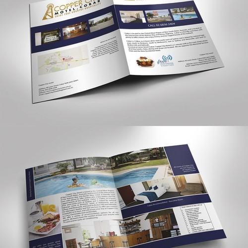Create a new brochure for our popular motel - Copper City Motel