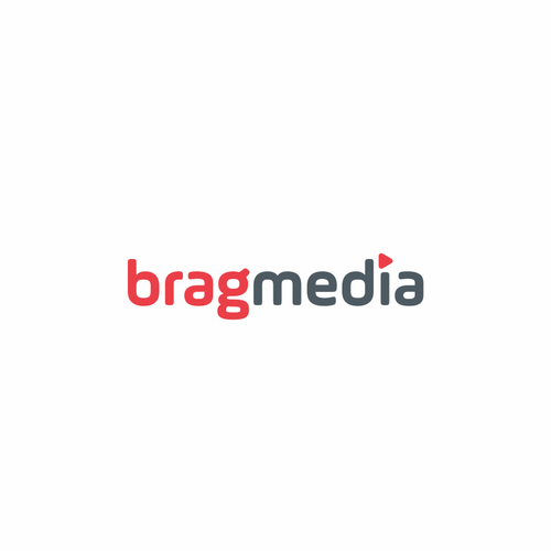 Wordmark logo design for BragMedia