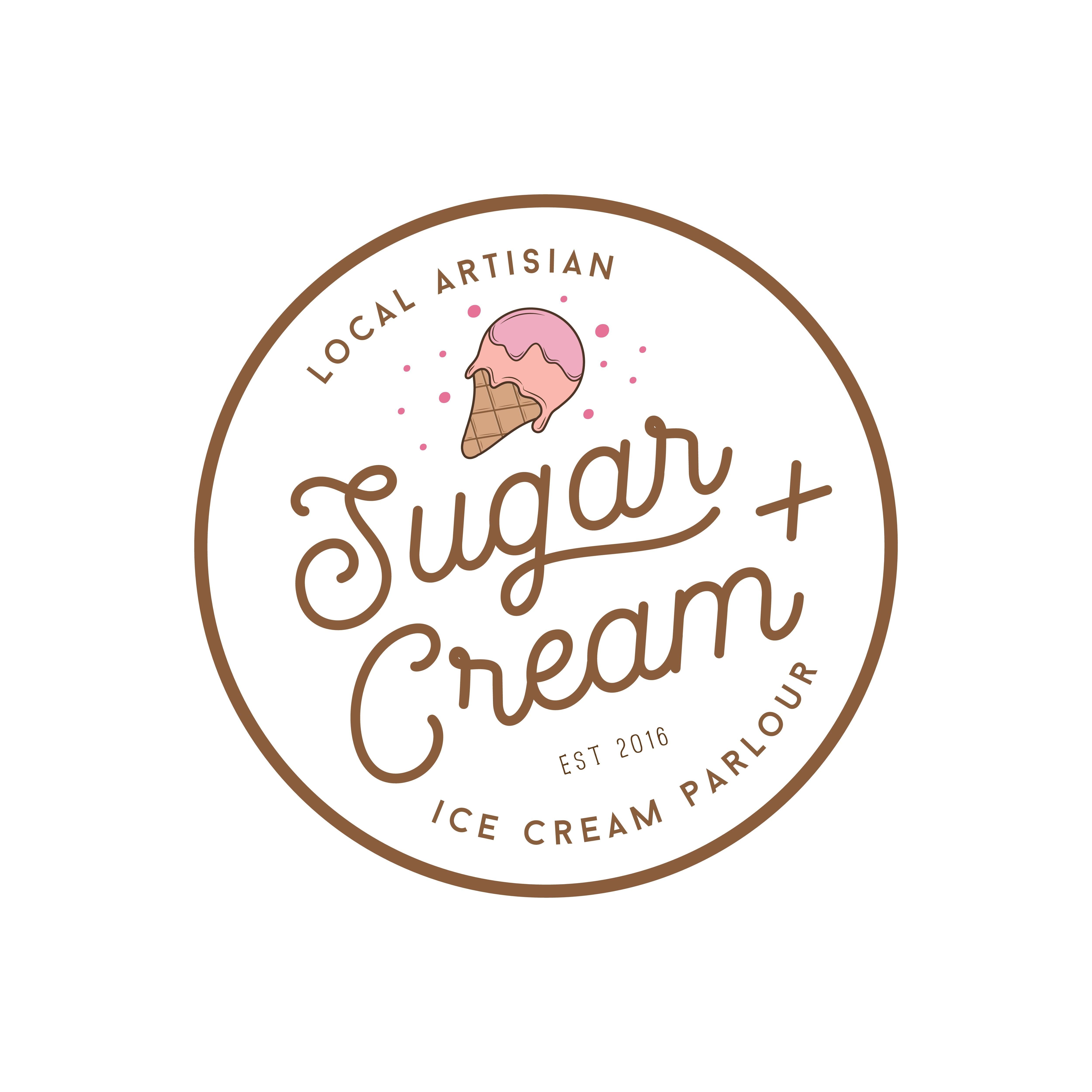 create a logo for a local modern fun ice cream parlor