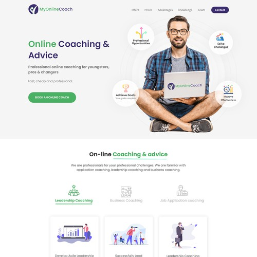 New landing page for MyOnlineCoach