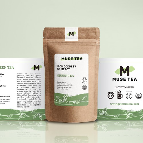 Stand-up Label for different kind of Tea product