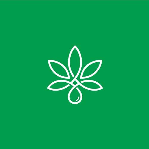 Pure Organics logo concept for CBD company