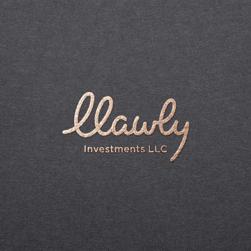 logo concept for llawly real estate investment