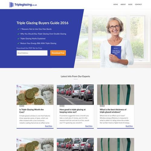 Website design for TripleGlazing blog