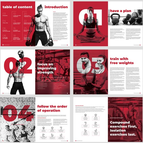 Fitness ebook design