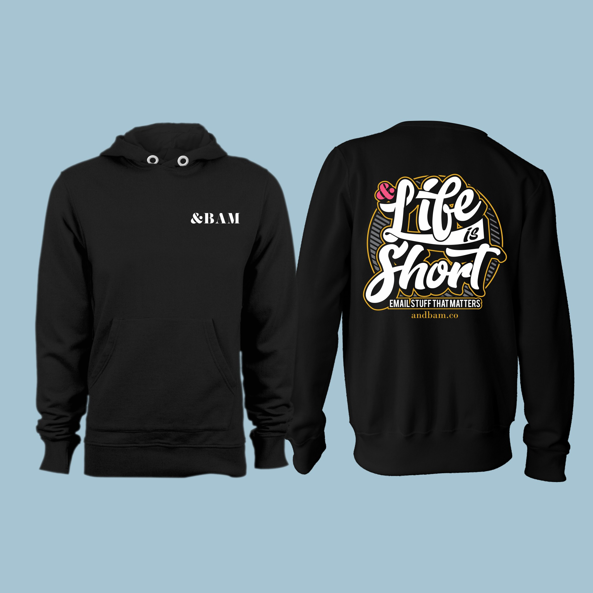 Design an eye-catching team hoodie for an up-and-coming agency