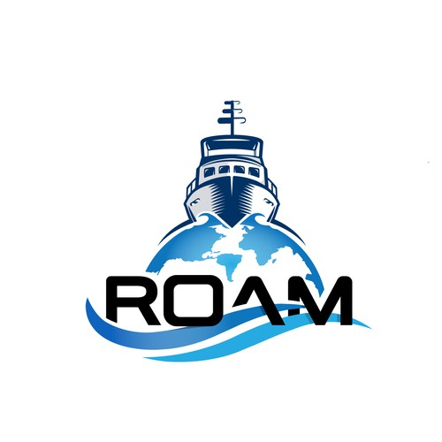 "Logo update for our Cruising Boat, ""Roam"""