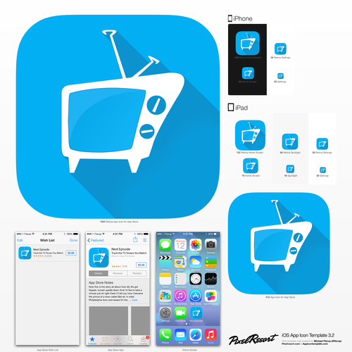 Create a cool and attractive app icon for an iOS7 app!