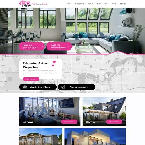 Website design - houses in Edmonton