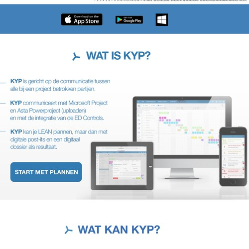 Webpage Layout reDesign for KYP