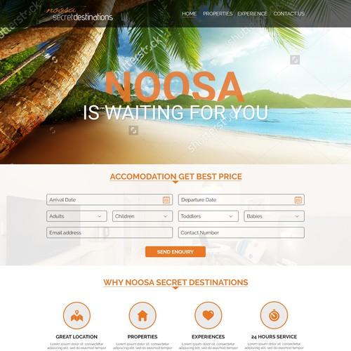 Luxury Accomodation Website Redesign