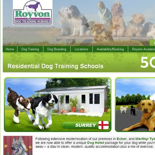 Web Banner for Dog Hotel