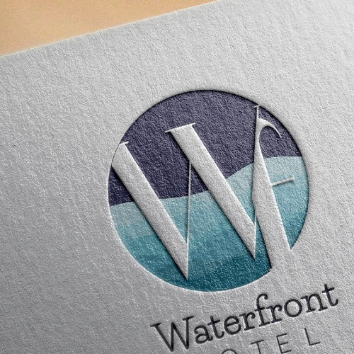 Creative logo concept for waterfront hotel