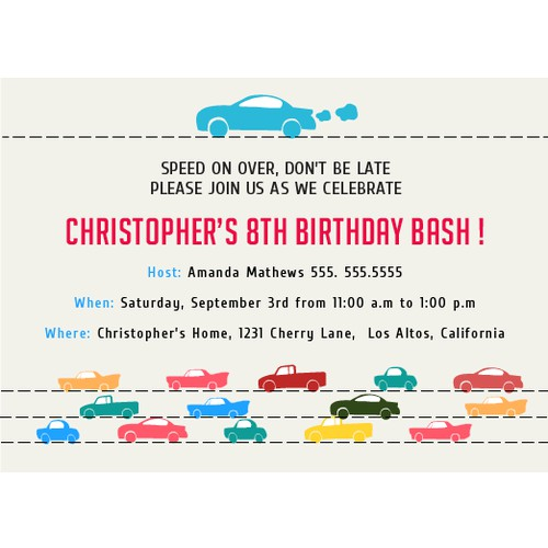 Create a an Online Birthday Party Invitation