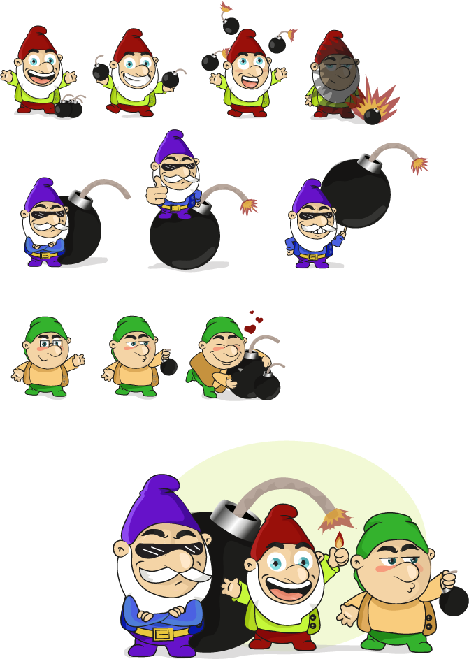 Fun Mascot Design of a Gnome/Elf-like Character