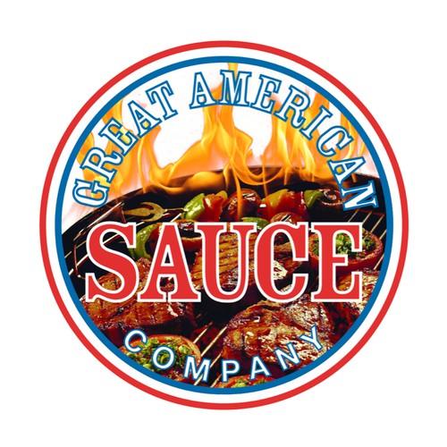 Logo for a Sauce bottle label