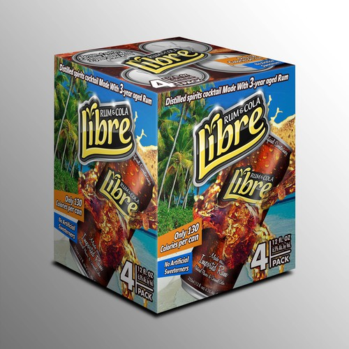 Create a winning design for Libre Rum & Cola's 4-pack wrap to be sold in stores throughout America!