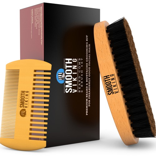 Beard Comb 3D Image for Smooth Viking