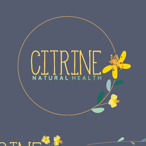"""""""Botanical-print"""" inspired logo with femininity and classic charm for Naturopathic health practice."""