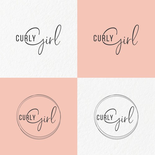 Logo concept for Curly Girl.