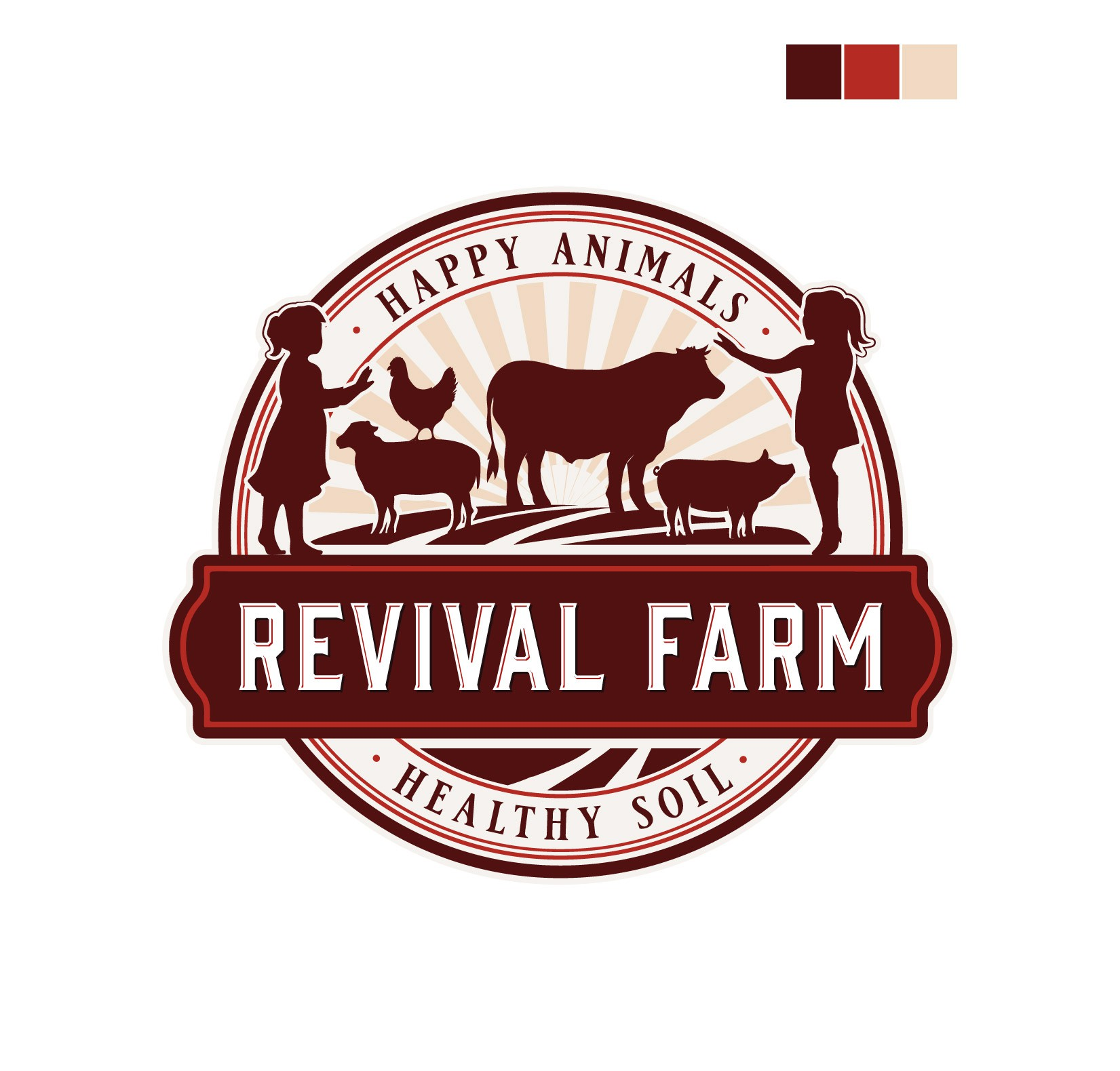 Creative and unique logo for a regenerative agriculture farm!