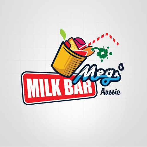 Create this logo for new aussie themed milk bar and other future branding.