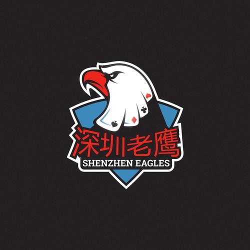 Bold logo for poker team