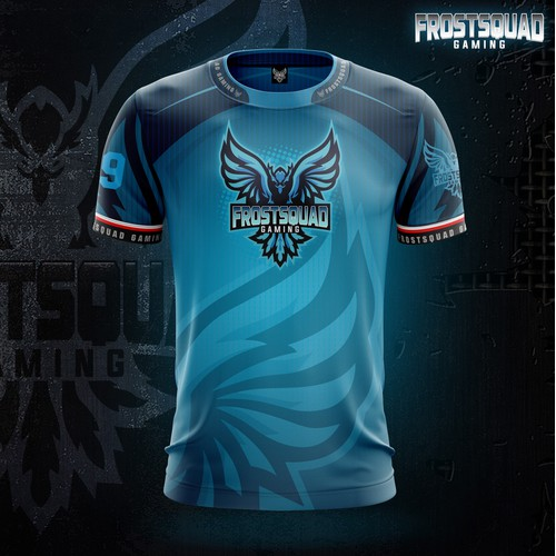 Frostsquad Gaming E-sport Jersey Design