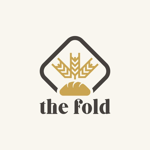 "Logo incorporating a ""fold"" made out of a bun"