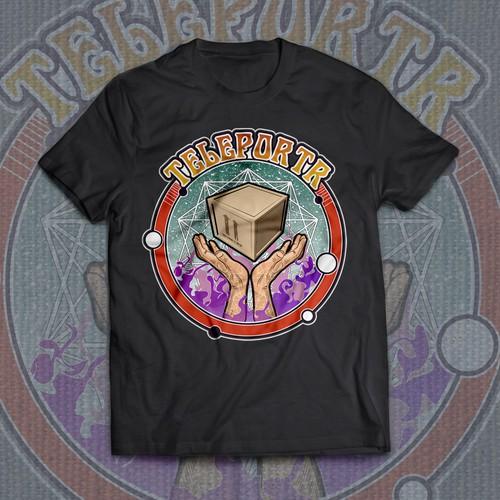 "Tshirt design for ""teleportr"""