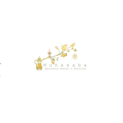 Design a catchy logo for accessory rentals from small birthdays to luxurious weddings.