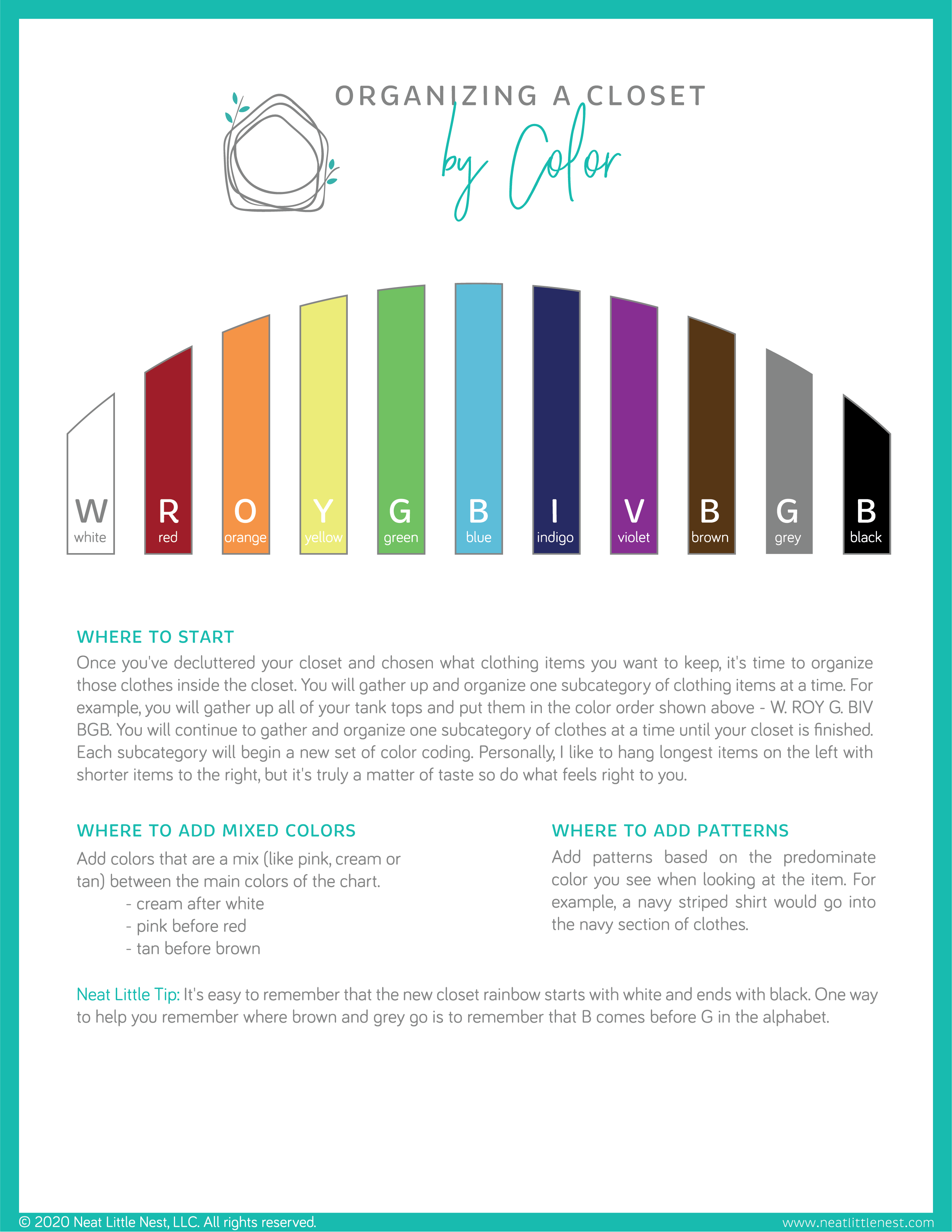 Organizing By Color Guide
