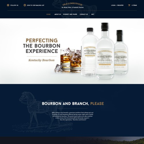 Webdesign for Old Limestone Bourbon Water