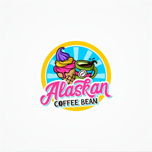 Logo for alaskan coffeebean