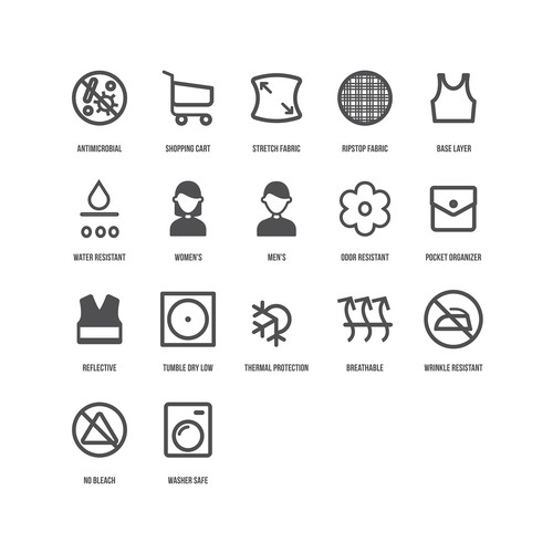 Design of Icons for Athletic Healthcare Apparel