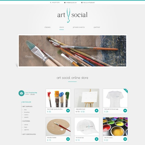 Help ArtSocial, Inc with a new website design