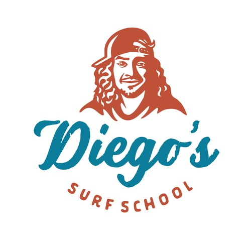 Logo for Diego's Surf School