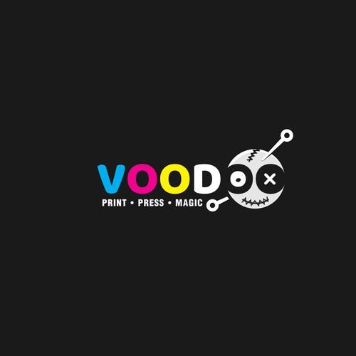 Logo Concept for Voodoo - digital and offset printing house