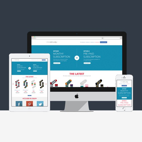 Create a winning website for the next best thing for socks