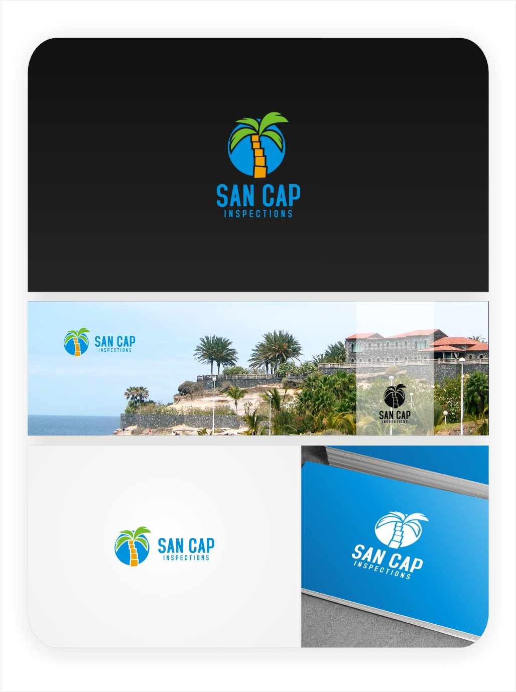 Create the next logo for San Cap Inspections