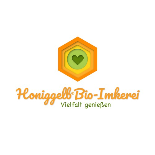 Logo concept for an organic beekeeping company