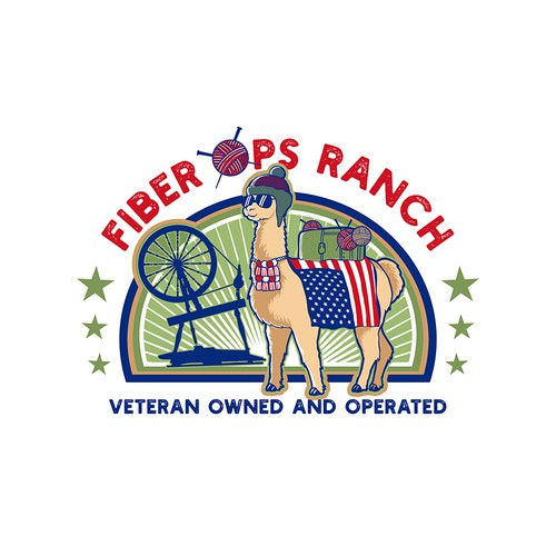 Fiber Ops Ranch Cartoon logo