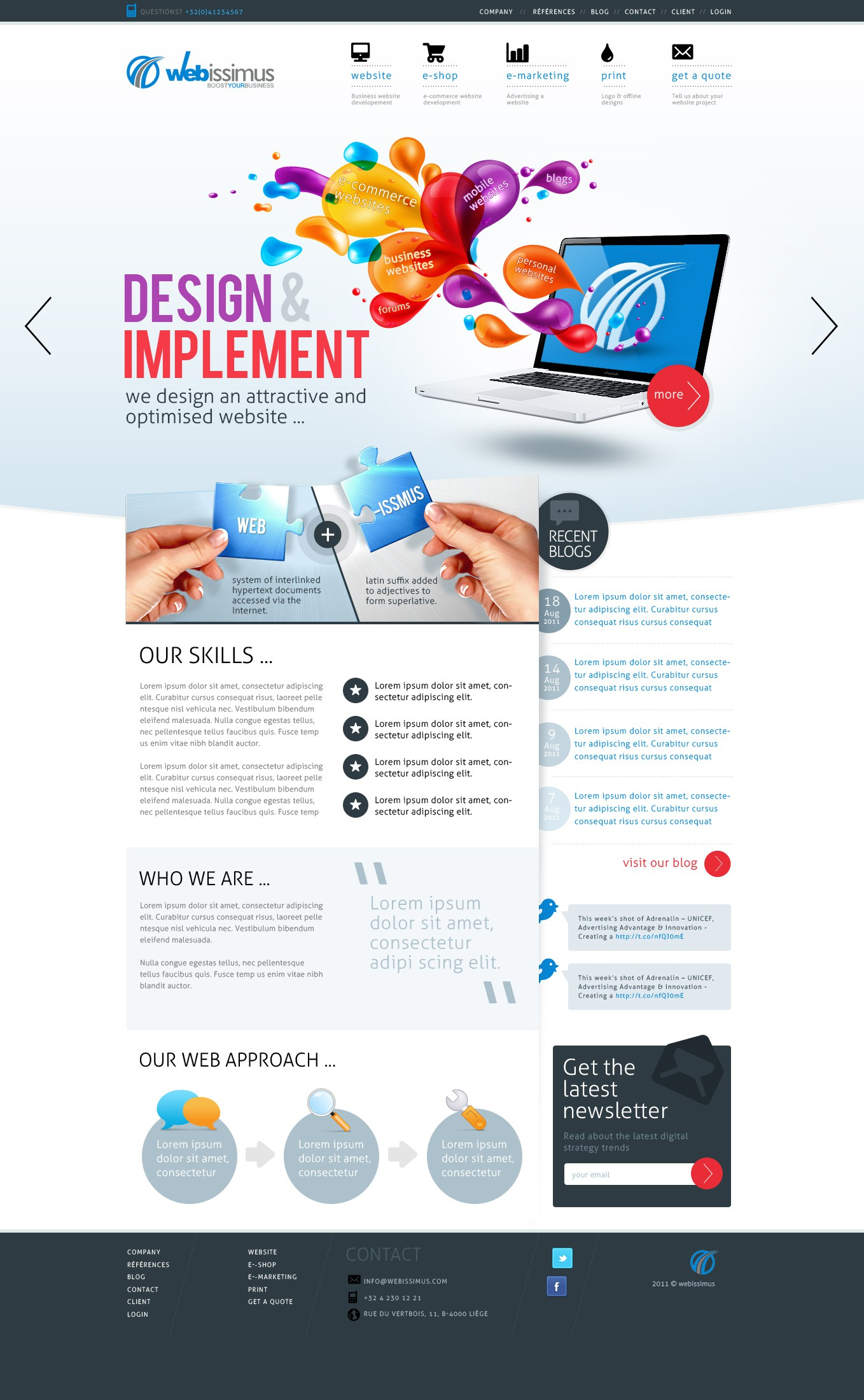 New website design for a web agency