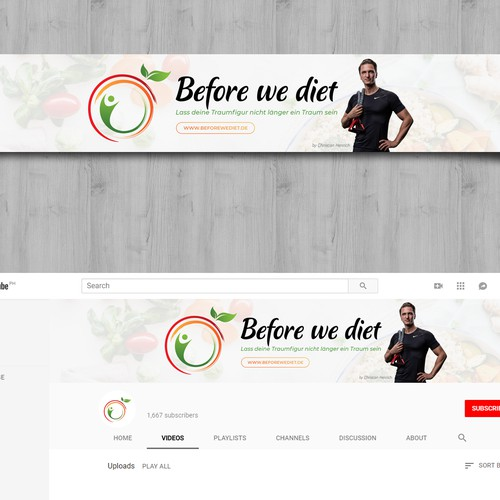 Youtube header design